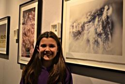 Pupil at the Sandgazer exhibition in Kendal